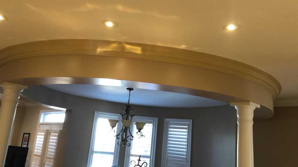 Flexible crown molding installation