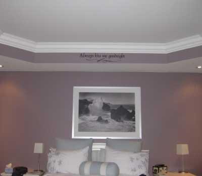 crown molding in bedroom