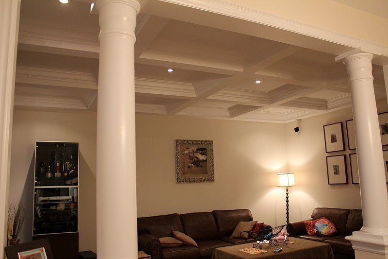 basement interior columns trim