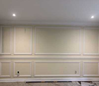 living room wainscoting wall trim
