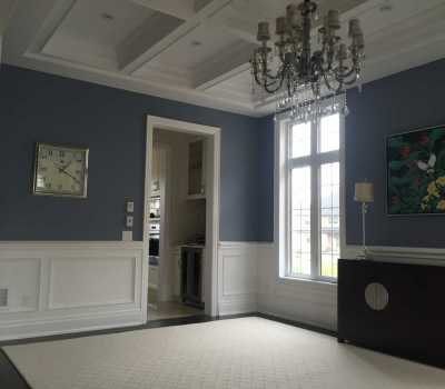 waffle ceiling and moulding