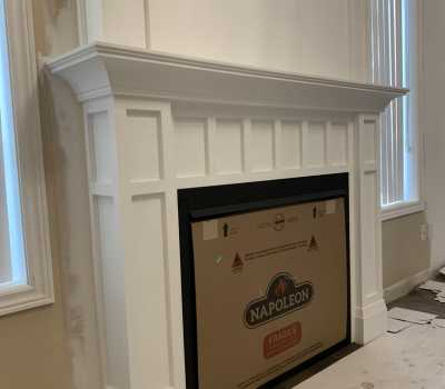 fireplace with Decorative Trim