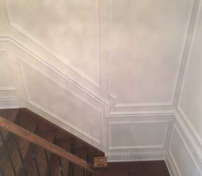 Full Wall Stairs Wainscoting