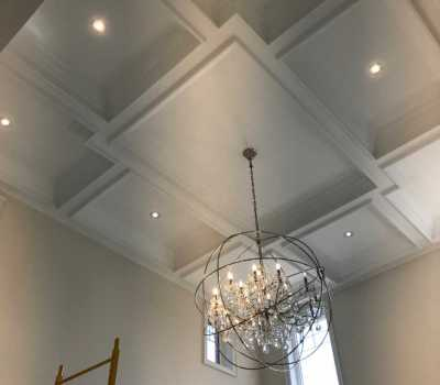 coffered ceilings and crown moulding Richmond Hill
