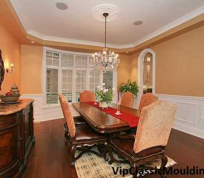 luxury wall with wainscoting decor