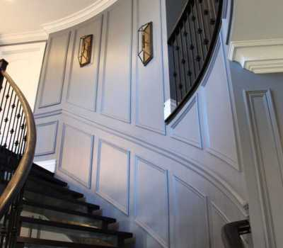 staircase wainscoting and moulding
