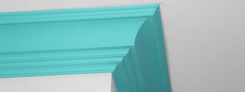 teal crown moulding