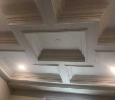 Wooden waffle ceiling