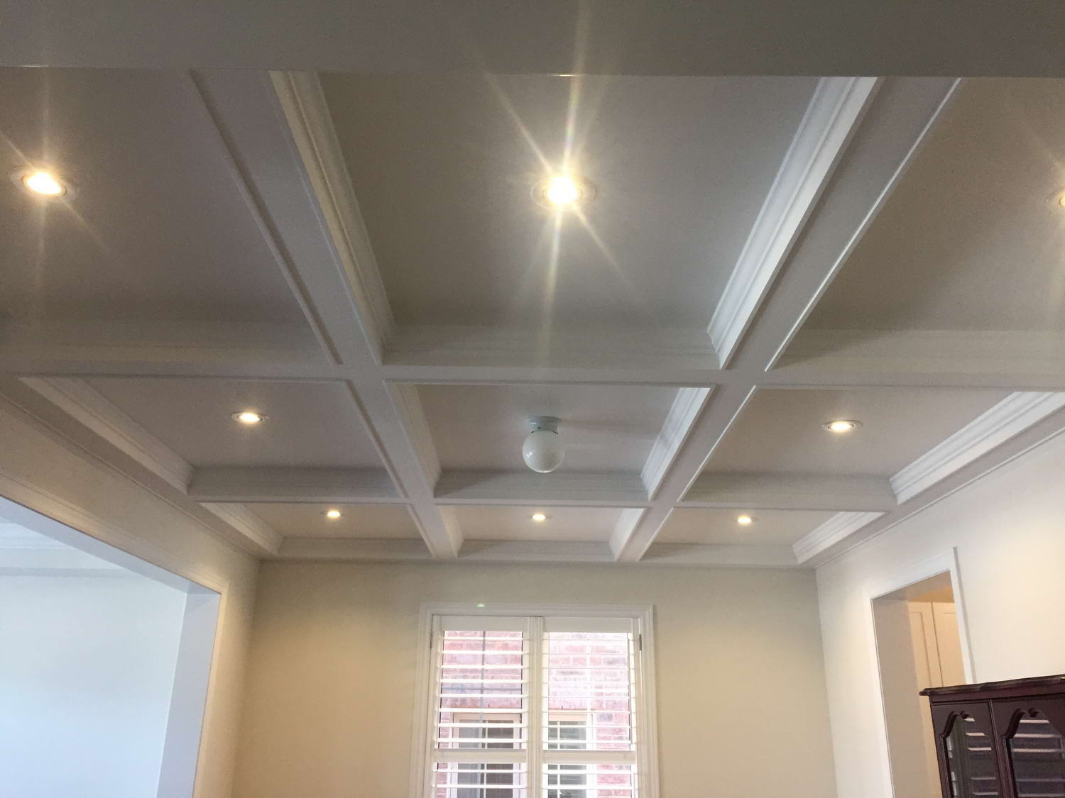 coffered ceilings with pot lights