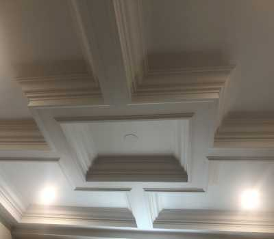 waffle ceiling installation 400x350 - Coffered Ceilings