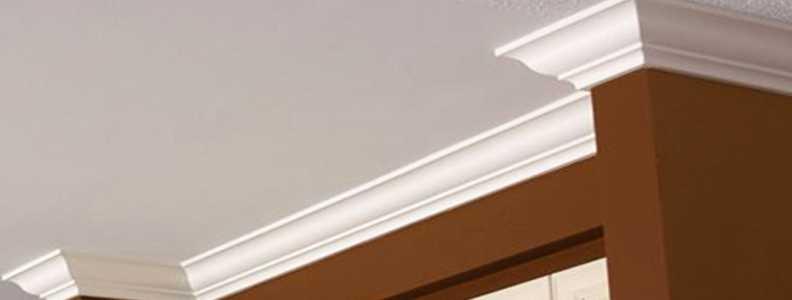 Cornice Moulding on brown wall GTA