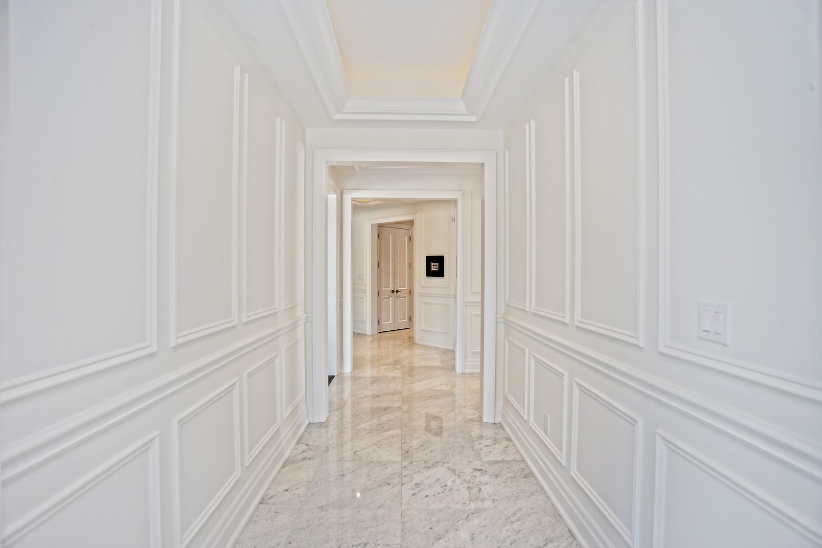 White wainscotting moulding GTA