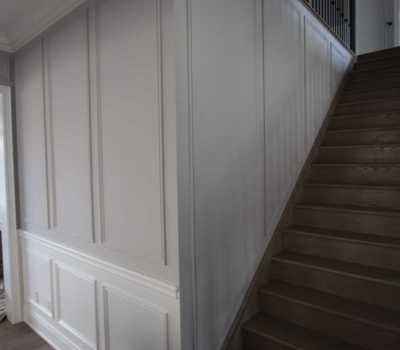 Full Wall Wainscoting Stairs