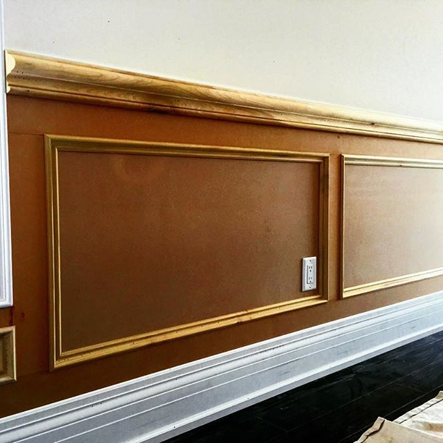Wainscotting woodwork raised panels