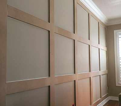 Wall paneling carpentry