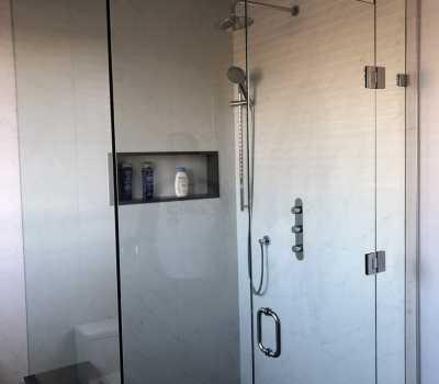 Glass Shower Enclosure - Bathroom Renovation