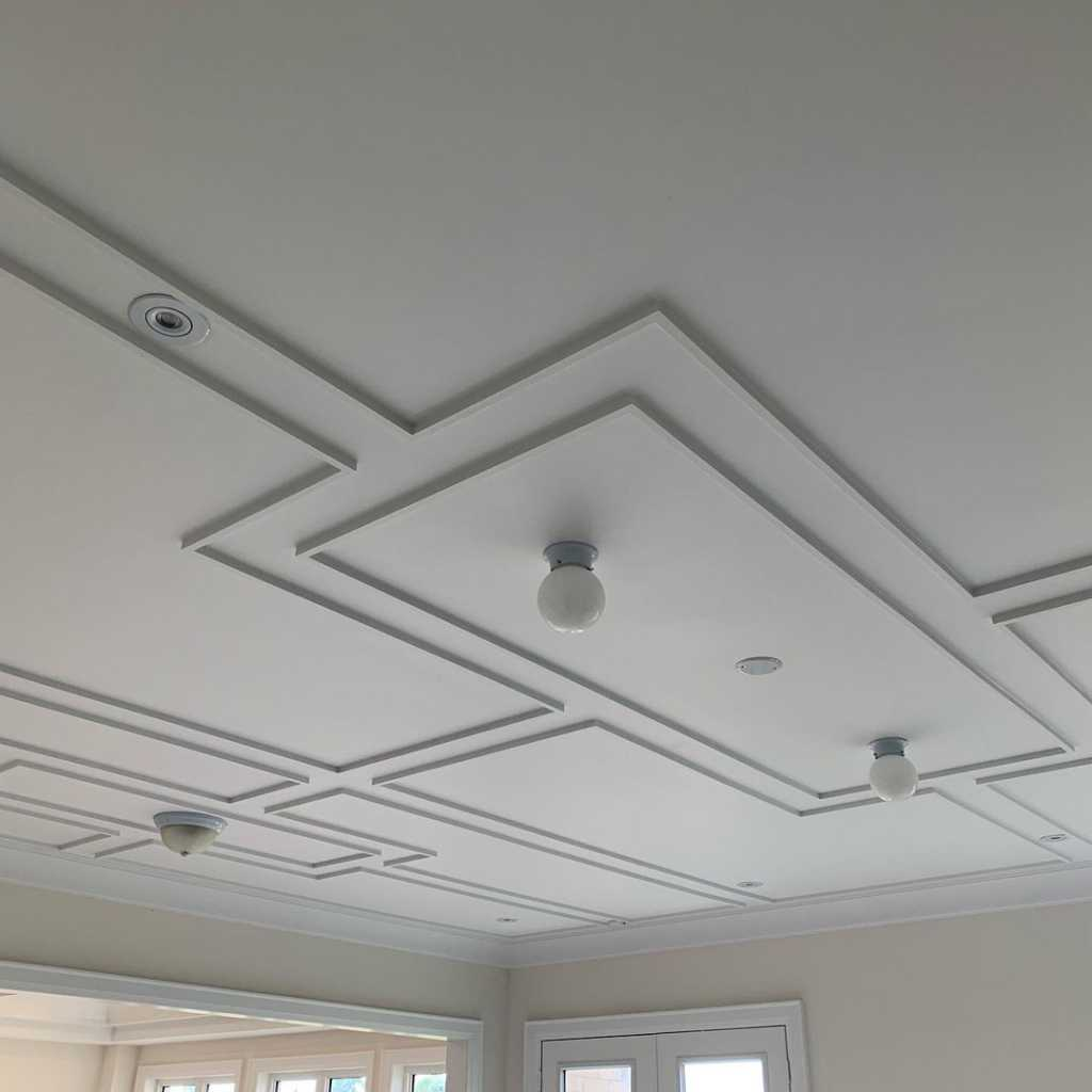 luxury coffered ceiling in modern living room toronto