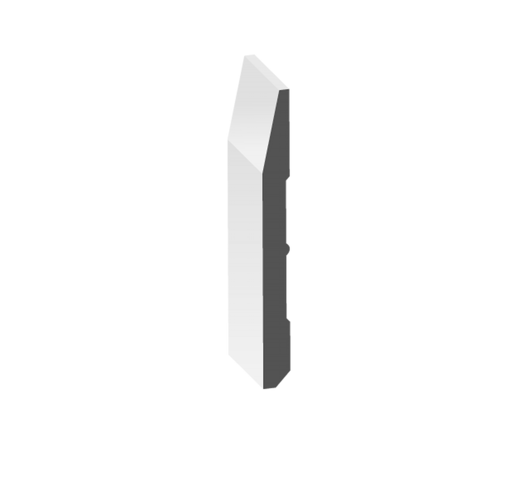 "7"" Beveled Baseboard (No Step)"