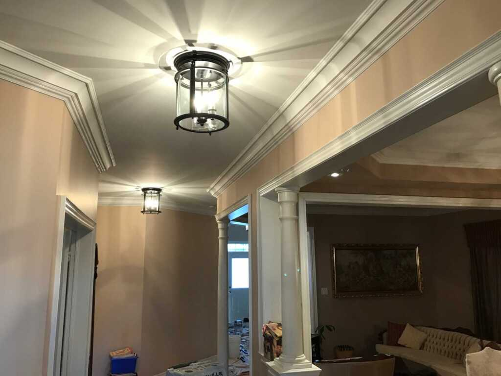 Amazing Hallway with Crown Molding by VIP Classic Moulding Caledon