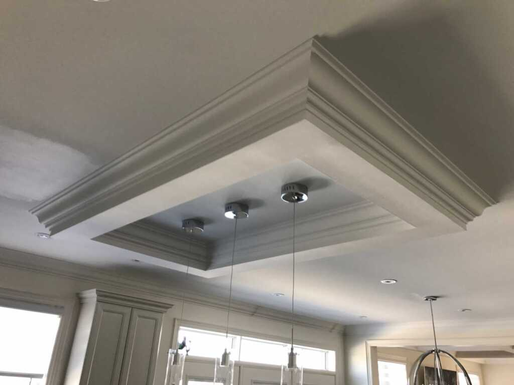 Amazing Crown Molding Trim Project in The Kitchen Toronto