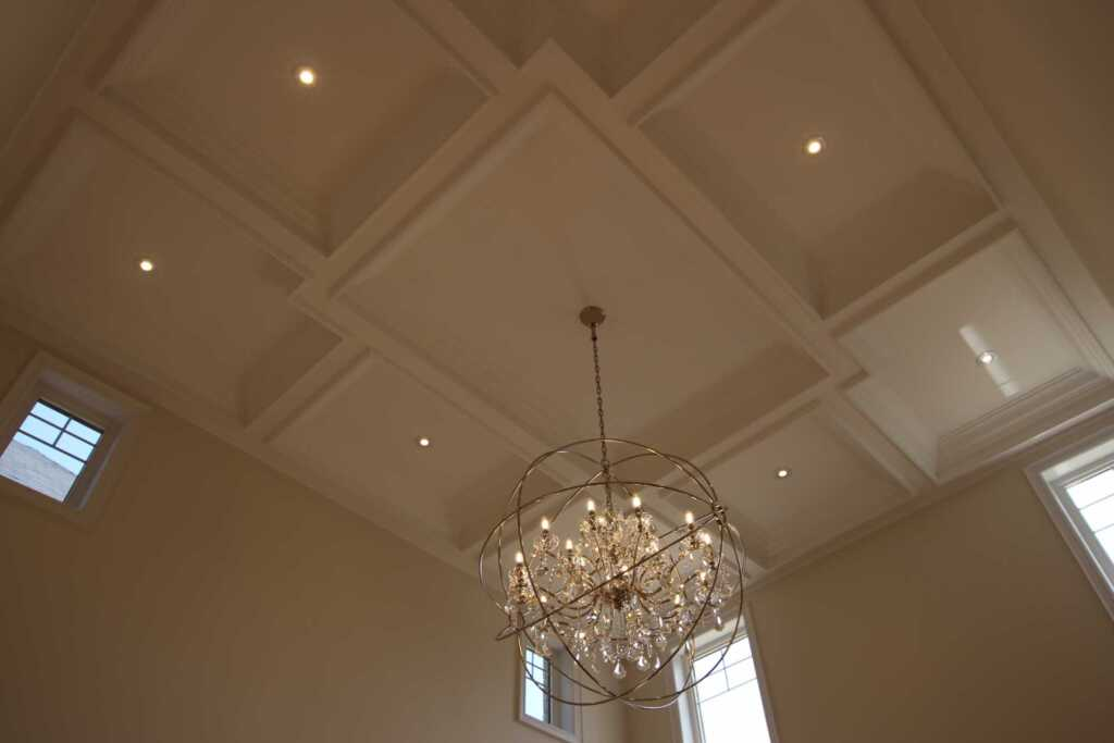Luxury Living Room with Waffle Celling Decor Newmarket