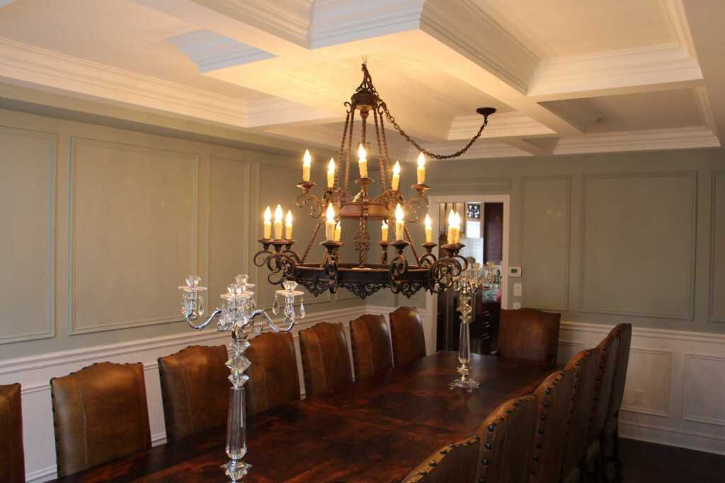 Custom Dining Room with Wainscoting Wall Decor Newmarket