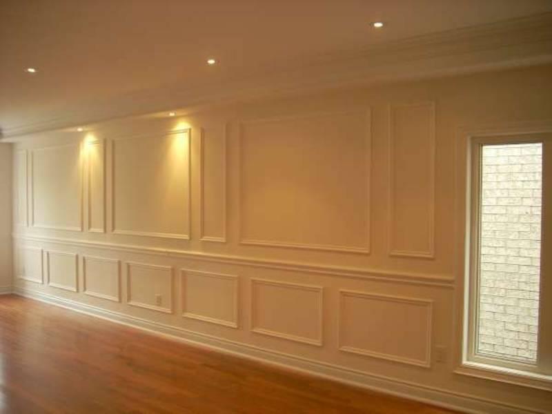 Wainscoting Wall Decor in Custom Living Room Toronto
